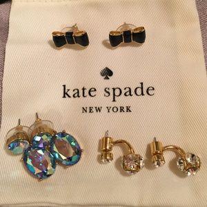2 Kate Spade earring pairs & JCrew earrings too!